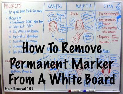 Below is a video showing how to remove permanent marker from a white board.  It is easy to grab a permanent marker, on accident, and write on your white