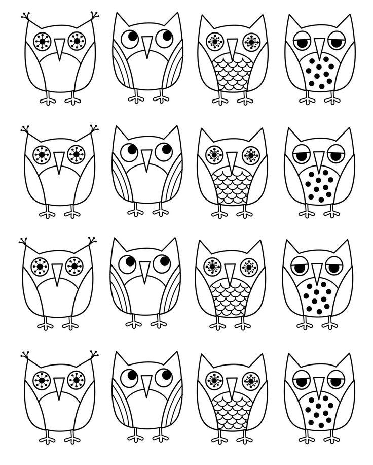 retro owl coloring pages | 94 best Owls images on Pinterest | Coloring books, Print ...