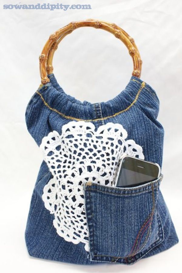 5 Recycled Blue Jean Projects - Sow Dipity