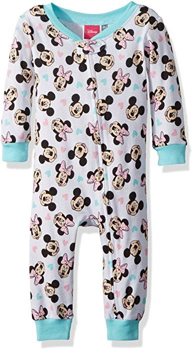 26094a54c1 Amazon.com  Disney Baby Girls Minnie Mouse Cotton Non-Footed Pajama ...