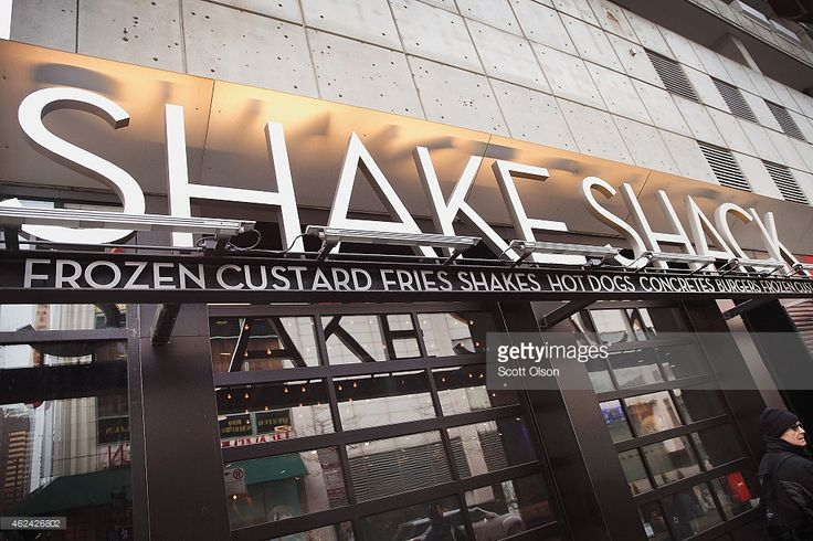 A sign hangs outside of a Shake Shack restaurant on January 28, 2015 in Chicago, Illinois. The burger chain, with currently has 63 locations, is expected to go public this week with an IPO priced between $17 to $19 a share. The company will trade on the New York Stock Exchange under the ticker symbol SHAK.