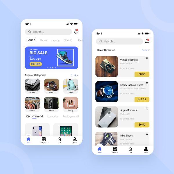 Multi Vendor Shop App Design App Design Layout Mobile App Ecommerce App
