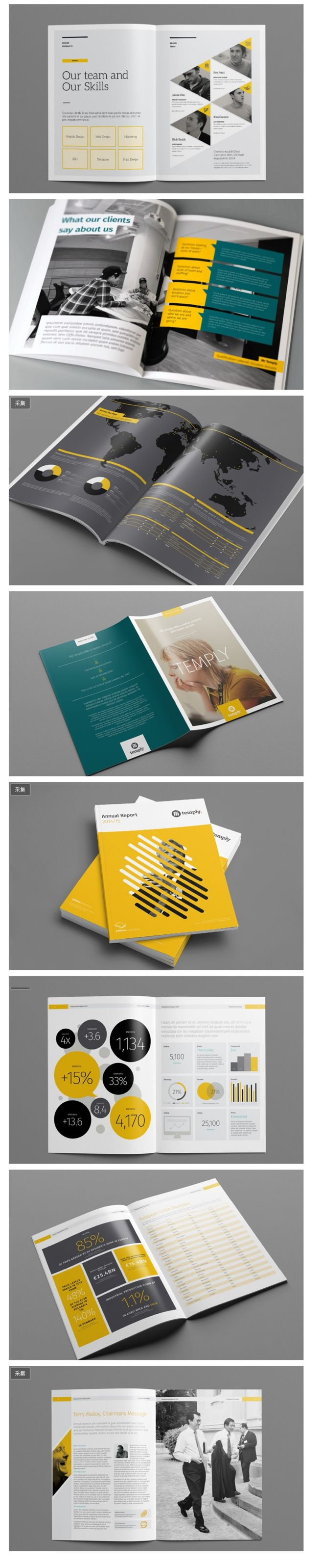 【平面设计】优秀的扁平化企业画册设计 -...