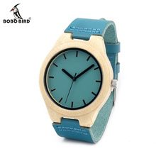 BOBO BIRD F20 Bamboo Wooden Watch Mens Top Luxury Band Quartz Watch with Leather Band in Gift Box as Gift Item Men Watches 2016(China (Mainland))