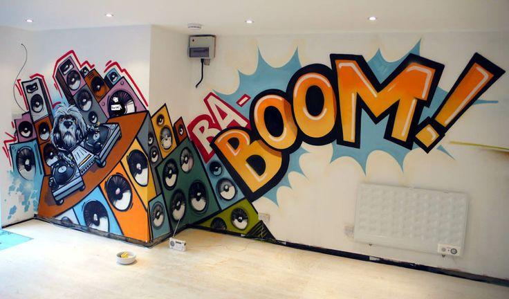 Graffiti Murals Graffiti Bedroom Graffiti Bar Bat Mitzvah Graffiti Wall Murals