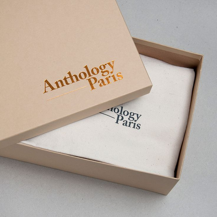 Brand Identity and block foiled packaging for Anthology Paris by Studio Plastac.