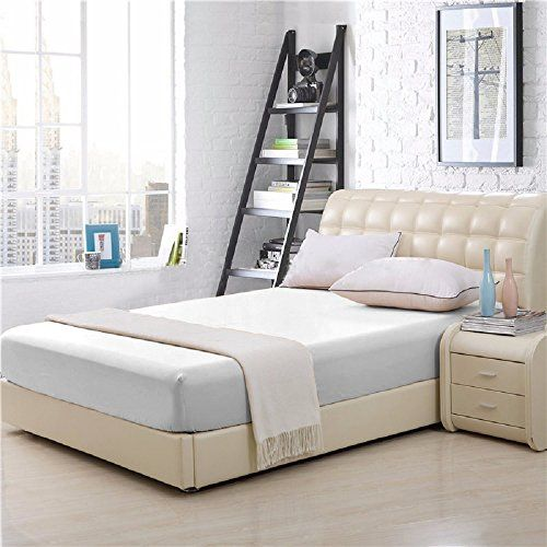 Elaine Karen 100% Cotton Fitted Bed Sheet - King Size - White -- See this great product.