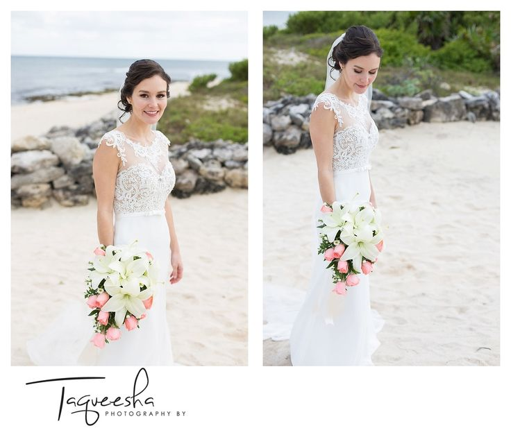 Just the Bride, I always try to take a few images of just the bride, even if she says she doesn't wan't them I explain that her groom will love them.  Wedding on the beach at the Grand Bahai in the Riviera Maya  Photography by Taqueesha