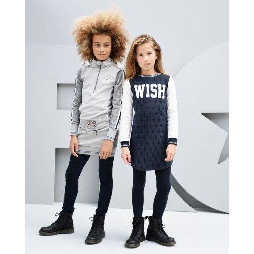 Like Flo Girls intarsia graffic sweat dress  Meisjes jurk Direct leverbaar uit…
