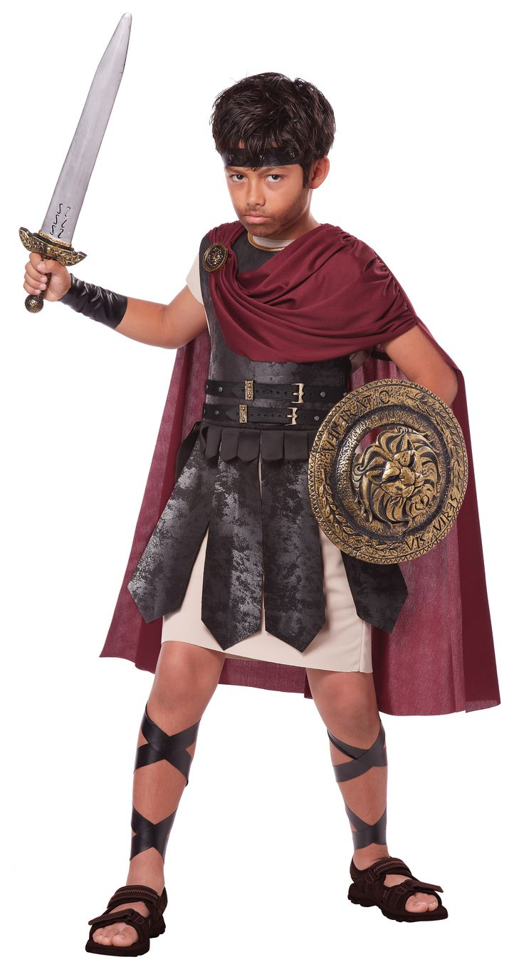Boys Spartan Warrior Roman Costume - This is Sparta! Relive the adventure of Sparta's epic battles as one of the elite 300.  Revisit history or create your own adventures. Conquer other nations (or at least the neighborhood) as your favorite Spartan or Roman hero. This boy's costume is perfect for Halloween, historical reenactments, school plays, or just ordinary dress up fun. Harness the power of your inner warrior.  #gladiator #warrior #boys #kids #children #yyc #calgary #costume #roman