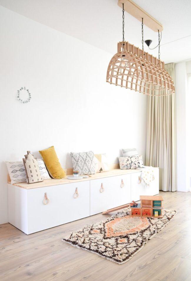 Diy Ikea Stuva Een Bankje Aan De Eettafel Kids Room Pinterest