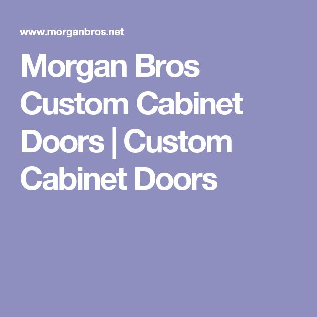 Morgan Brothers Doors & The Wood Brothers