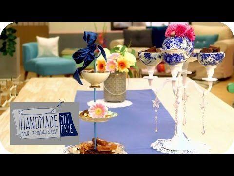Originelle Etageren   Handmade mit Enie - Mach's einfach selbst   sixx - YouTube
