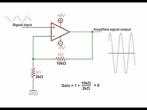 What is an op amp? Operational Amplifier tutorial & super spy microphone circuit - YouTube