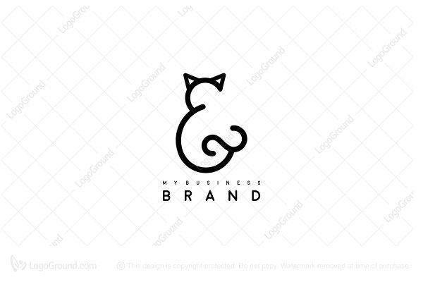 Logo for sale: And Sign Cat Logo