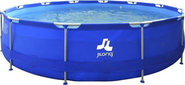 Piscina rotonda con struttura 550 x 122 cm colore blu. Altri modelli disponibili