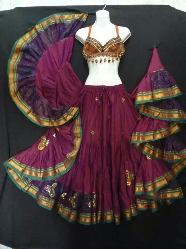 Lovely Tribal Belly Dance Outfit - Skirt/top from Magical Fashions. MagicalFashions.com