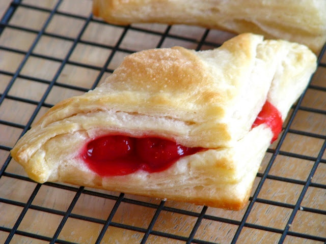 More like this: cherry turnovers , cherries and puff pastries .