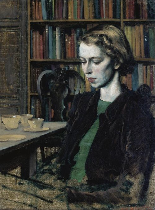 Rex Whistler: Miss Juliet Henley (At Breccles Hall), 1943