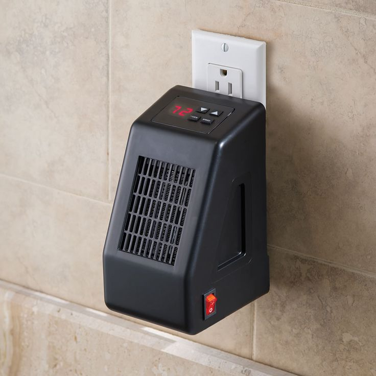 $49.95. I love this for the price and it heats a room 10 x 25 (250 sq ft.) and also has a timer that can be set to turn the heater on automatically!!! The Wall Outlet Space Heater - Hammacher Schlemmer