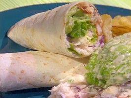 Grilled Chicken Caesar Salad Wrap from CookingChannelTV.com