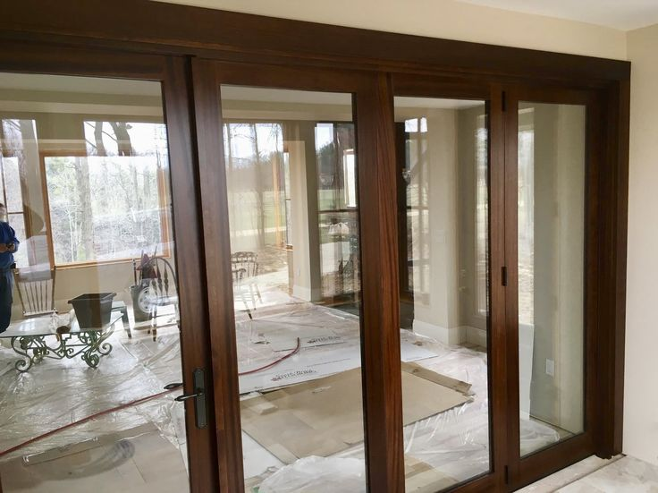 *NEW CONSTRUCTION* Take in the views all year round with this gorgeous #AmberwoodDoors Panoramic TM Bi-Folding mahogany #door system; rich San Miguel stain; ... & 22 best Amberwood Panoramic TM Bi-Folding Doors images on Pinterest ...