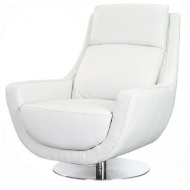 Modern White Chairs Leather Swivel Lounge Chair Orlando On Design Decorating
