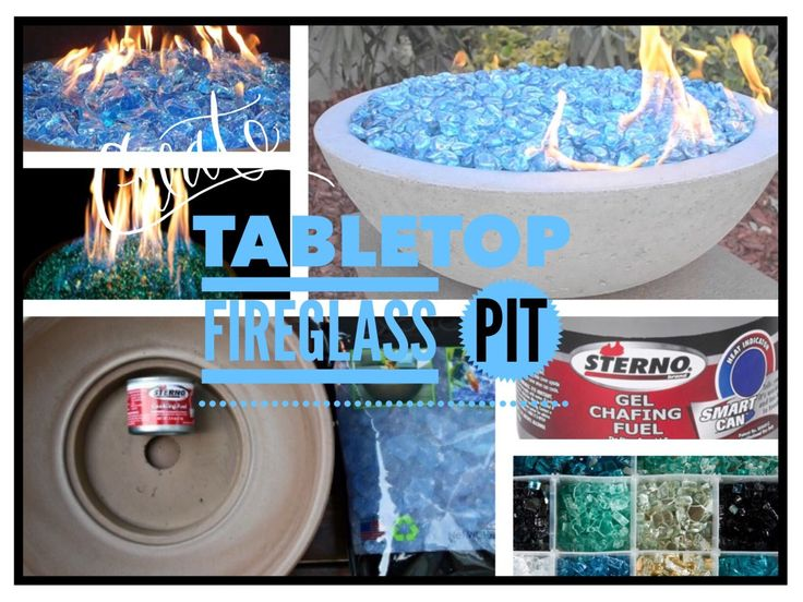 Tabletop Fire Glass Pit
