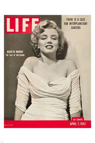 MARILYN MONROE Life Magazine Cover POSTER April 7 1952 24X36 Luminous Star