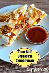 Taco Bell Breakfast Crunch Wrap (copycat)