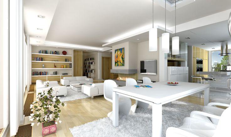 Projekt domu Otwarty - wnętrze fot 1