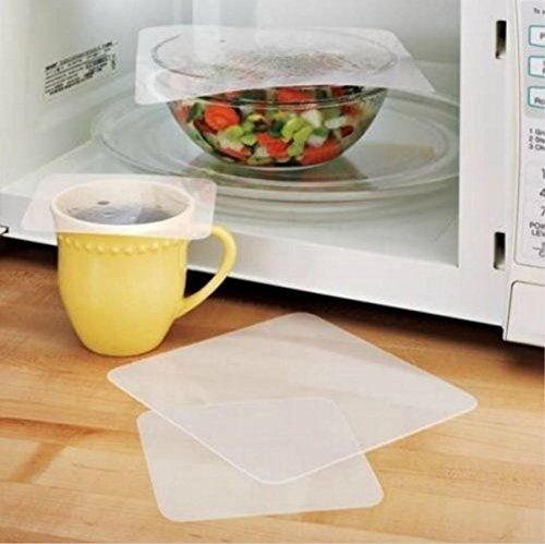 This set of 4 #Microwave #Splatter Screen Covers is perfect for cooking in your microwave. Splatter screens cover dishes, cups, and other containers to decrease c...