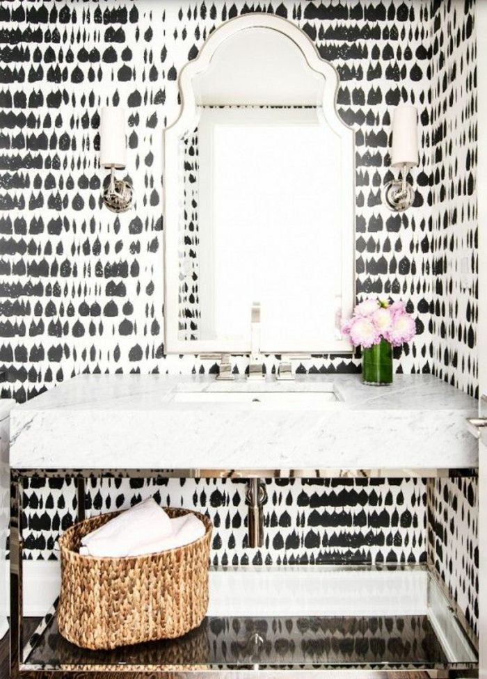 17 meilleures id es propos de salle de bains papier for Papier peint vinyle salle de bain
