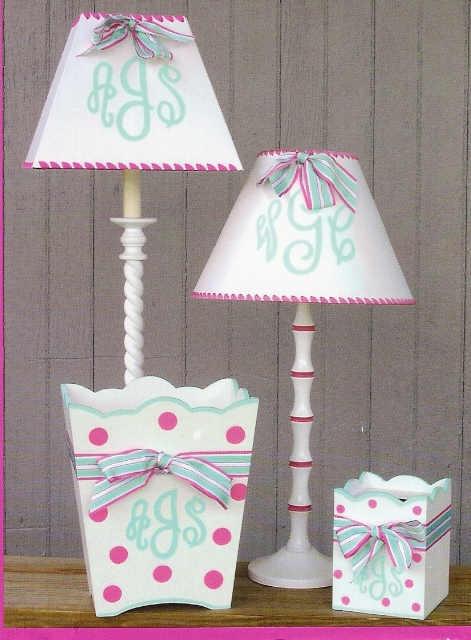 monogram decor: Monograms Lampshades, Monograms Decor, Crafts Ideas, Decor Ideas, Baby Ideas, Monograms Bedrooms Decor, Monogrambedroom Decor, Girls Rooms, Kids Rooms
