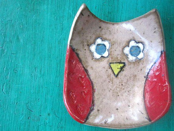 Owl Bowl Dish  Lola by ShoeHouseStudio on Etsy, $15.00
