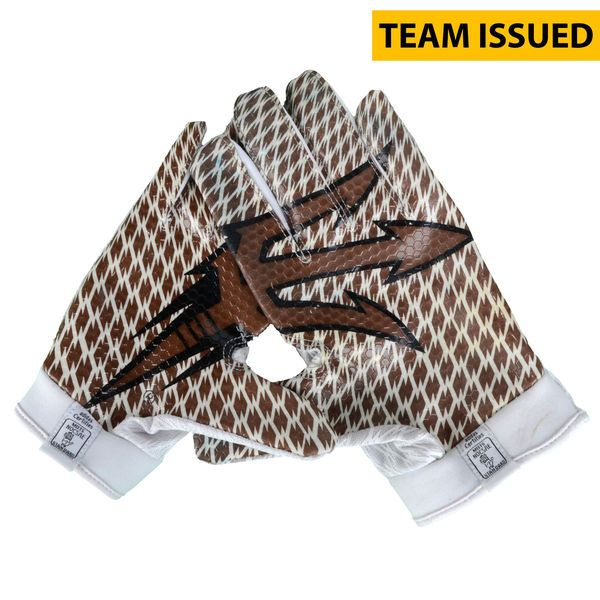 Arizona State Sun Devils Fanatics Authentic Team-Issued White and Bronze Adidas Zero Gloves from the 2015 Season - Size 2XL - $59.99