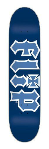 Flip Skateboards Team HKD Skateboard Deck (Light Blue/Red, 31.8 x 7.875-Inch)