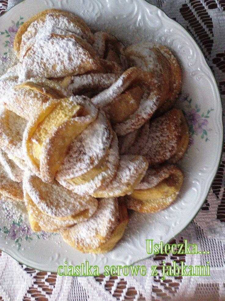 Usteczka - ciasteczka serowe z jabłkiem PRZEPIS