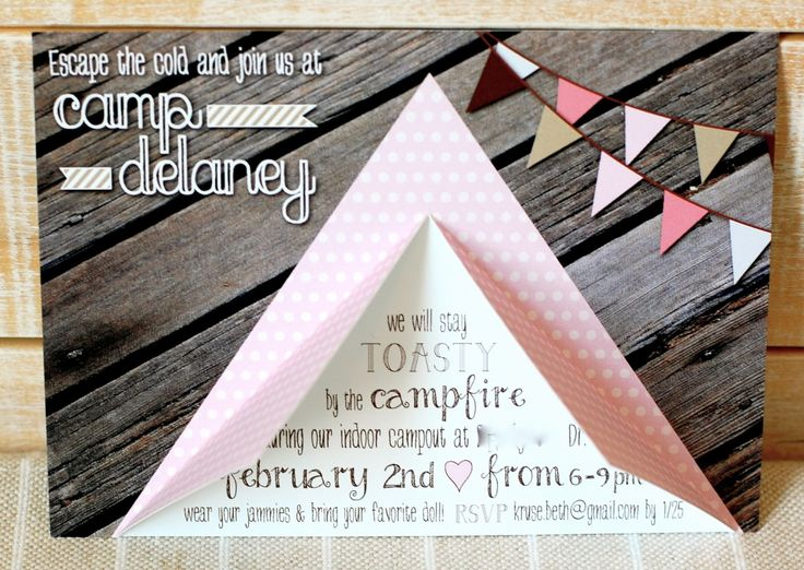 Beth Kruse Custom Creations - tent invite - tutorial