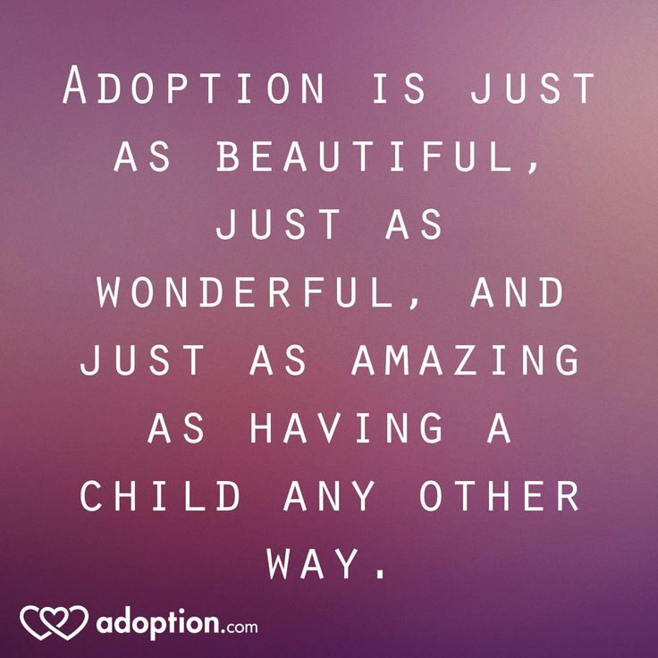 Adoption is just as beautiful, just as wonderful, and just as amazing as having a child any other way. #adoption