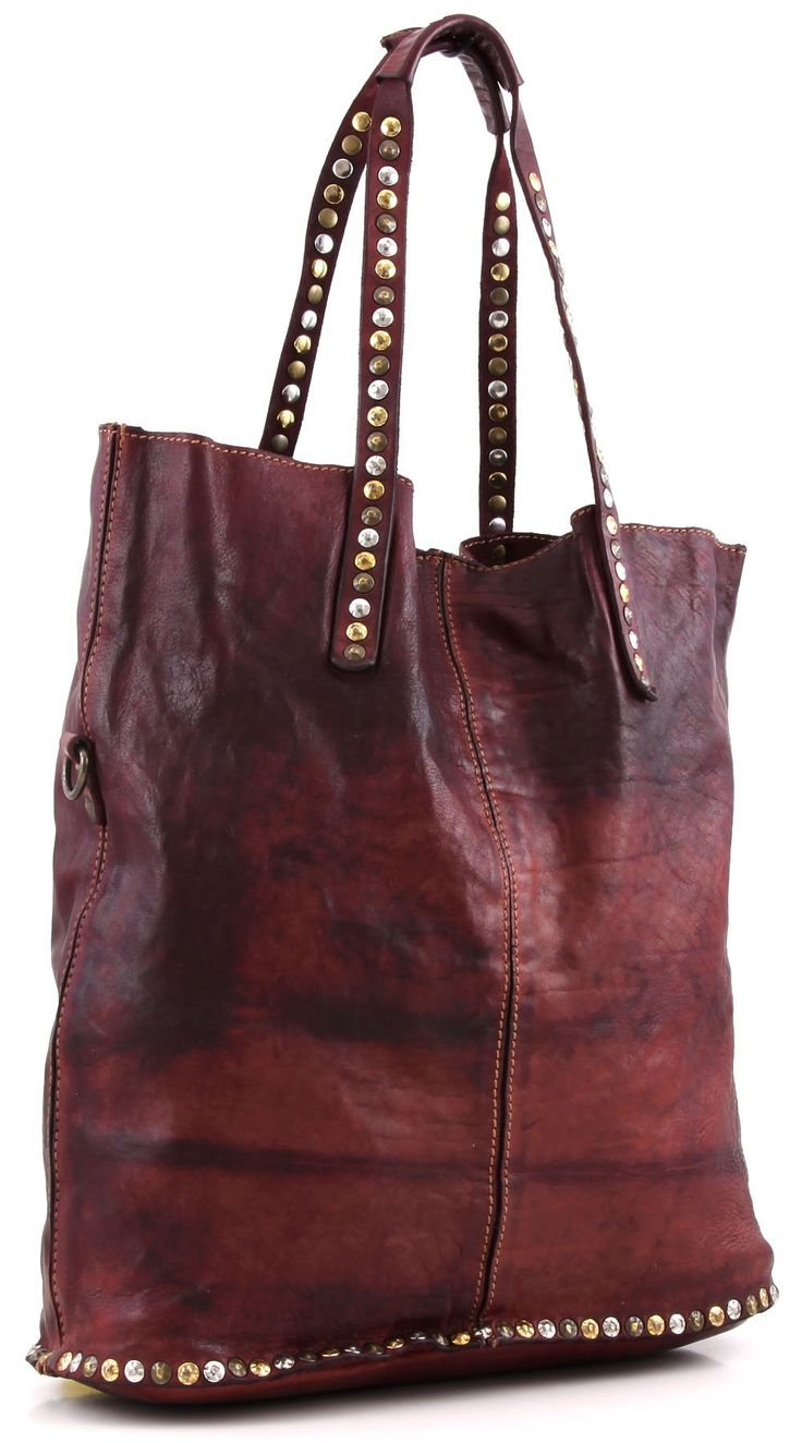Lavata Tote Leather claret 37 cm