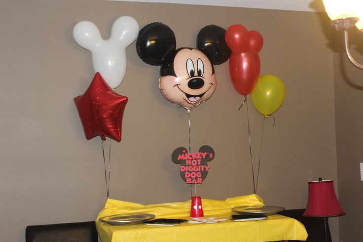Mickey mouse birthday party hot diggity dog bar parties mickey