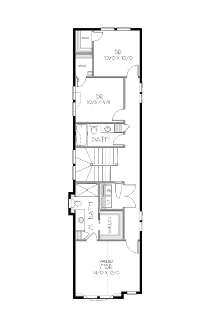 91 best narrow house images on pinterest architecture narrow bungalow style house plan 3 beds 2 5 baths 1669 sq ft plan 423