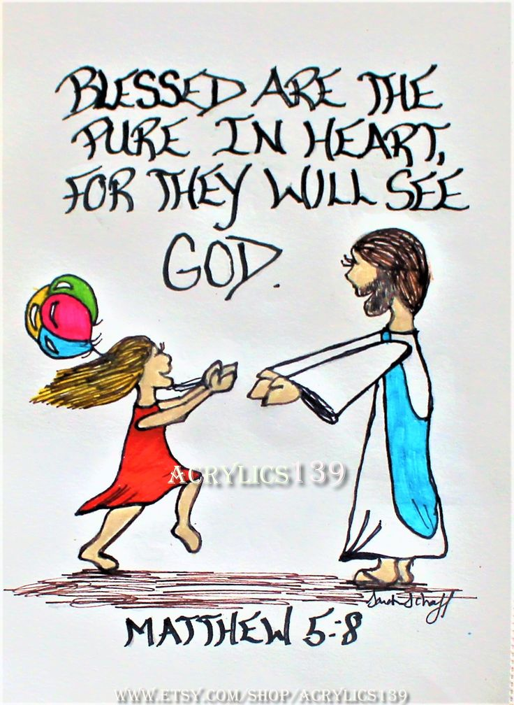 """""""Blessed are the pure in heart, for they will see God."""" Matthew 5:8 (Scripture doodle of encouragement/Bible Art Journaling/Child like Faith)"""