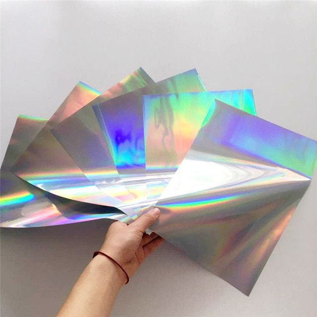 Myfoils A4 50pcs Silver Holographic Stamping Foil Quill Paper For Laminator Transfer By Laser Printer Minc Foil Laminator In 2020 Diy Stamp Paper Crafts Foil Stamping
