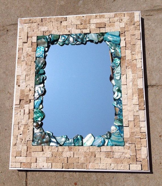 Mosaic Mirror Mosaic Tile Mirror Home Decor Wall by BlueOceanGlass