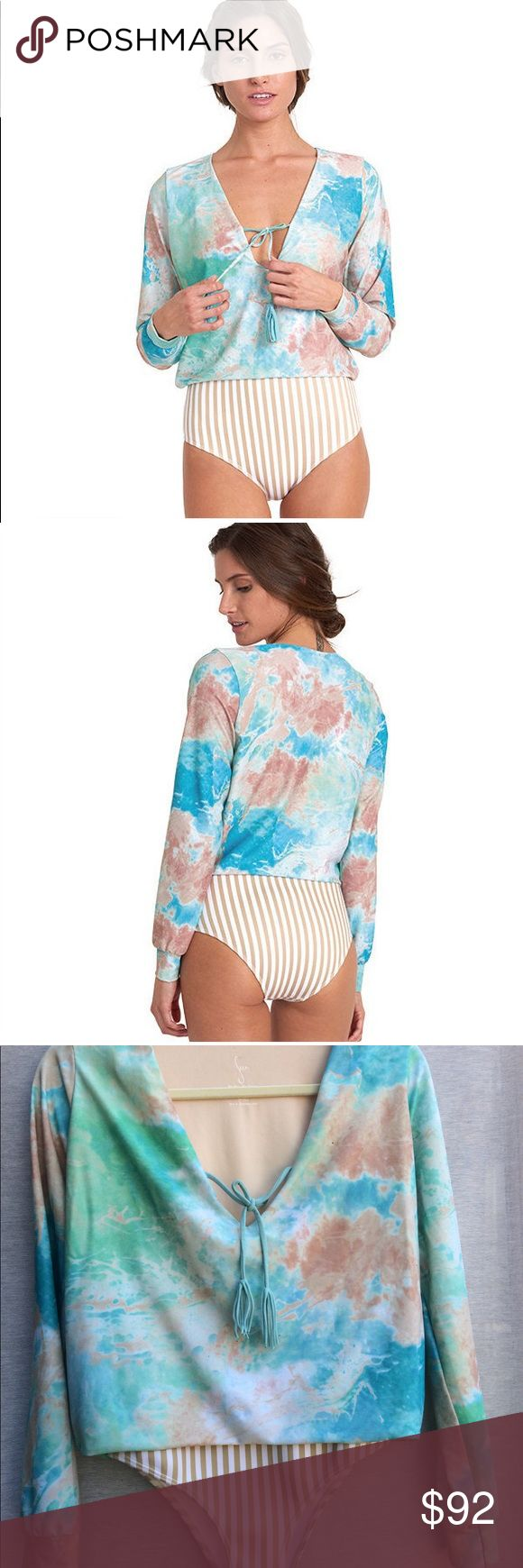 Seea Santander Surf Suit in Marble sz Small Seea Santander surf suit in marble size small, C skin lining perfect for surfing and lounging, worn twice surfing, very light sand price reflected. Please ask any questions before purchasing! acacia swimwear Swim One Pieces