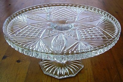 17 Best Images About Antique Cut Etched Crystal Glass On Pinterest Antique Glass Pedestal