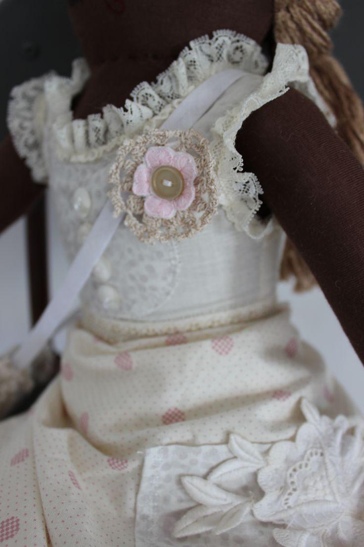 Cloth Doll Plush : gretchen- detail