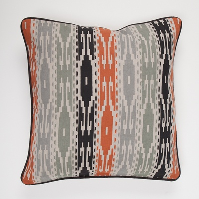 Western Cushion Cover with Dark Piping